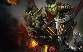 Picture mechanism, art, goblins, terrible, Hearthstone, Goblin vs Gnomes, operion