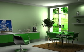 Picture design, house, style, interior, apartment, dining room, living room