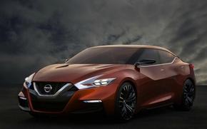 Picture Concept, Orange, Nissan Sport Sedan