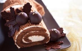 Picture chocolate, cake, cake, cream, cakes, sweet, chocolate, sweet, biscuit, roll, roll, biscuit, baking