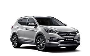 Picture white background, Hyundai, Santa Fe, Hyundai, Santa Fe