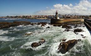 Wallpaper lighthouse, Portugal, Portugal, Porto, Porto