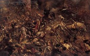 Picture soldiers, war, battle, horse, warriors