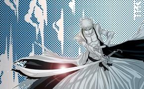 Picture sword, game, Bleach, anime, katana, man, boy, bankai, asian, Kurosaki Ichigo, manga, japanese, yellow eyes, …
