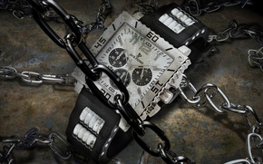 Picture watch, chains, jack Pierre