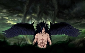 Picture Naruto, God Of War, Uchiha Powers, God of war
