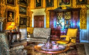 Wallpaper photo, HDR, Design, Chair, Sofa, Table, Interior, Living room