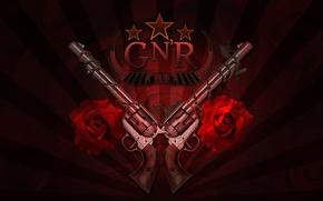 Picture roses, Guns N' Roses, logo, rock, trunks