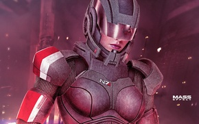 Picture mass effect, shepard, omega, armour, female, femshep