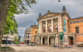Picture the building, HDR, area, Norway, monument, Norway, Oslo, Oslo
