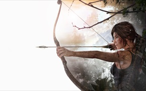 Picture girl, bow, arrows, lara croft, tomb raider, Crystal Dynamics, rise of the tomb raider, Ascension …