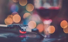 Picture vinyl, wine, macro, globes, music, vintage