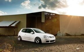 Picture white, white, Golf, golf, Volkswagen, Volksvagen, stance, mk5