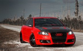 Wallpaper Audi, Auto, Road, Audi, Tuning, Machine, Carbon, Tuning, RS4