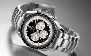 Picture watch, automatic, OMEGA, chronometer, speedmaster