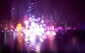 Picture purple, circles, lights, bright