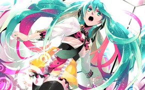 Picture girl, anime, art, tie, Hatsune Miku, Vocaloid, Vocaloid, matoki