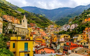 Picture landscape, mountains, the slopes, home, Italy, Cinque Terre