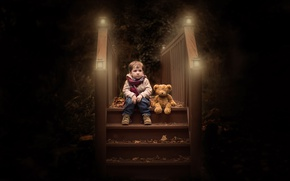 Picture toy, boy, bear