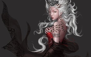 Picture eyes, girl, the demon, art