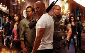 Picture VIN Diesel, Jordana Brewster, Jordana Brewster, Michelle Rodriguez, Paul Walker, Dwayne Johnson, Vin Diesel, Paul …