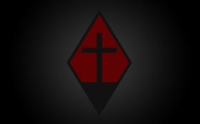 Picture Red, Cross, Emblem, Rhombus