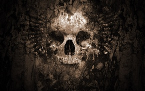 Picture death, earth, skull