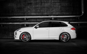 Picture Porsche, turbo, white, Cayenne, 958, V-CT Edition