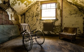 Picture room, interior, stroller