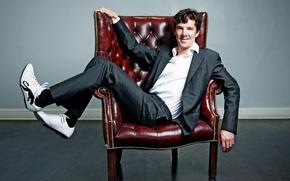Picture chair, costume, male, Benedict Cumberbatch, Benedict Cumberbatch
