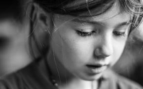 Picture portrait, girl, bokeh