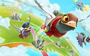 Picture bird, the game, art, flight, Donovan Valdes, freedom flock