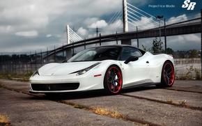 Picture Machine, Tuning, Ferrari, White, Italy, The project, Ferrari, Car, 2012, Car, Beautiful, 458, White, Wallpapers, …