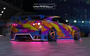 Picture Auto, Machine, Nissan, GT-R, Car, R35, Roben Evans Design