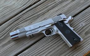 Wallpaper gun, Board, Taurus, semi-automatic, PT1911