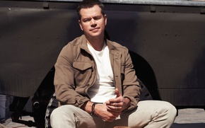 Picture photographer, actor, Matt Damon, photoshoot, Matt Damon, Cedric Buchet, cans