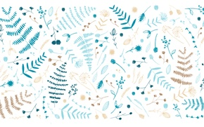 Wallpaper leaves, Nathalie Ouederni, twigs, Designed by