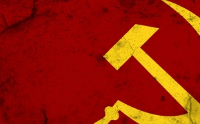Picture cracked, background, minimalism, texture, USSR, the hammer and sickle