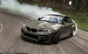 Picture car, smoke, track, BMW, skid, Drift, speedhunters, Latvia