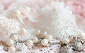 Picture decoration, pearl, lace
