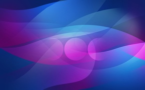 Picture line, circles, blue, abstraction, pink