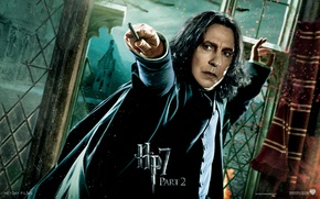 Wallpaper Harry Potter and the deathly Hallows, part 2, Severus Snape, severus snape, Harry Potter 7, ...