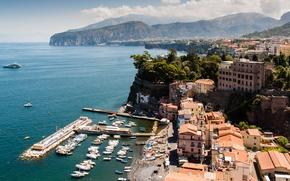 Picture sea, Italy, Campania, Sorrento, sunny