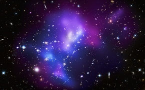 Picture stars, blue, Galaxy