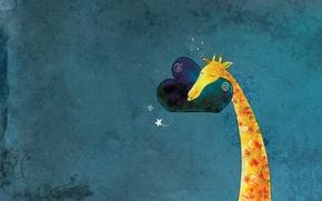 Picture figure, minimalism, baby, giraffe, il Sung Na