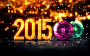 Picture New Year, balls, New Year, Happy, 2015