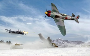 Picture WW2., Ron Cole, OKB-21, a, art, is, the plane, leadership, S. A. Lavochkina, Siviet, BBC, ...