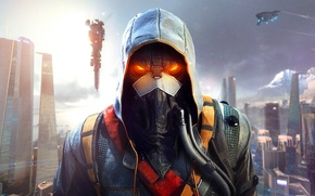 Picture the sky, the city, home, mask, soldiers, hood, megapolis, hose, Sony Computer Entertainment, Guerrilla Games, …