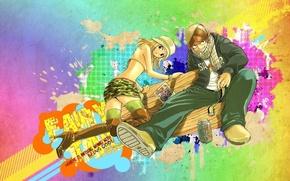 Picture anime, art, girl, guy