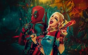 Wallpaper Ryan Reynolds, Ryan Reynolds, Deadpool, Marvel, Deadpool, Wade Wilson, Harley Quinn, Margot Robbie, Suicide Squad, ...